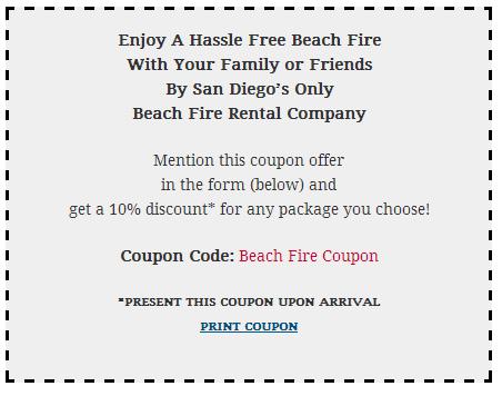 Beach Fire Coupon